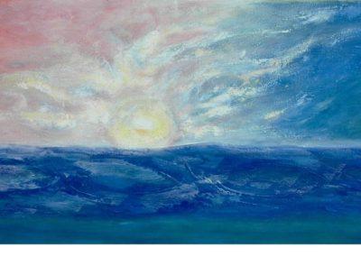 Fantasia del sol. Oleo sobre lienzo 81x201 cm. Ref. #119-.Moscu, Maria Ermakova.