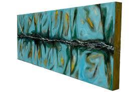 Serie COSMOS ''Trayecto Marciano III''.  Oleo sobre lienzo, 48x140 cm. Ref. #211 -.  US, NY, Eli Kince
