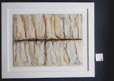 Serie COSMOS   ''Trayecto Marciano XIV. (E)'' Mixta sobre carton piedra 62x83 cm. Ref. #349-07-14. Rep. Dominicana, Yaneris L. Pacheco L.