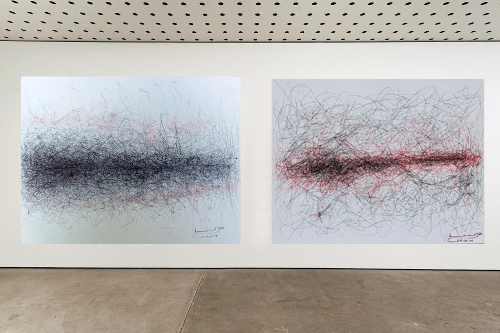 'Trayecto Marciano'' Lapicero sobre Papel 24x33 cm