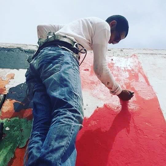 """Mural, """"la roca"""""""